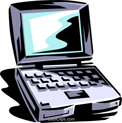 notebook/laptop computer Royalty Free Vector Clip Art illustration vc061378
