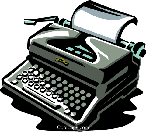 typewriter Royalty Free Vector Clip Art illustration vc061380