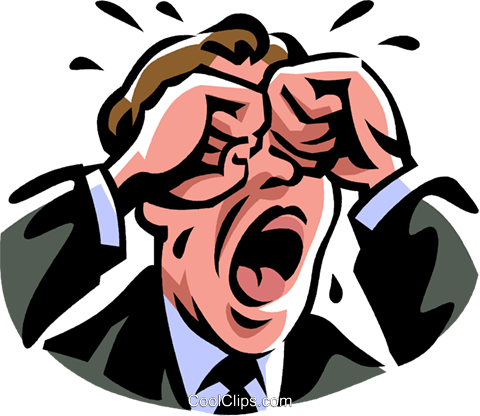 man crying Royalty Free Vector Clip Art illustration vc061412