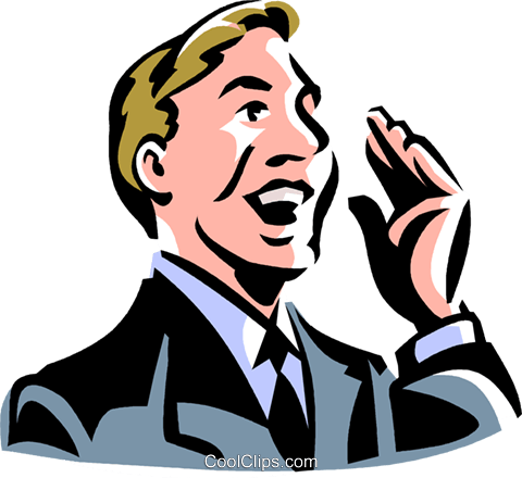 businessman Royalty Free Vector Clip Art illustration vc061424