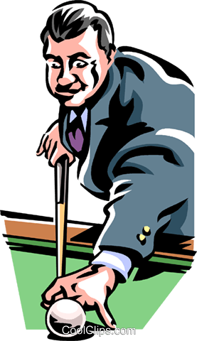 Pool player Royalty Free Vector Clip Art illustration vc061440
