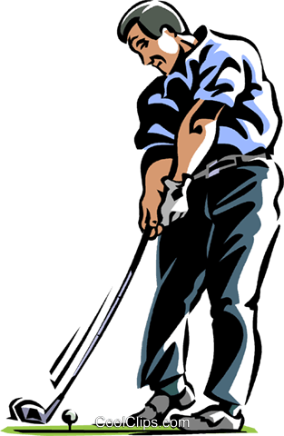 golfer Royalty Free Vector Clip Art illustration vc061442