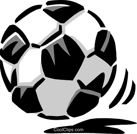 soccer ball Royalty Free Vector Clip Art illustration vc061444