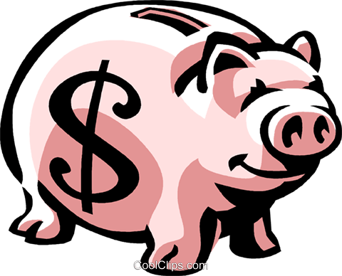 piggy bank Royalty Free Vector Clip Art illustration vc061472