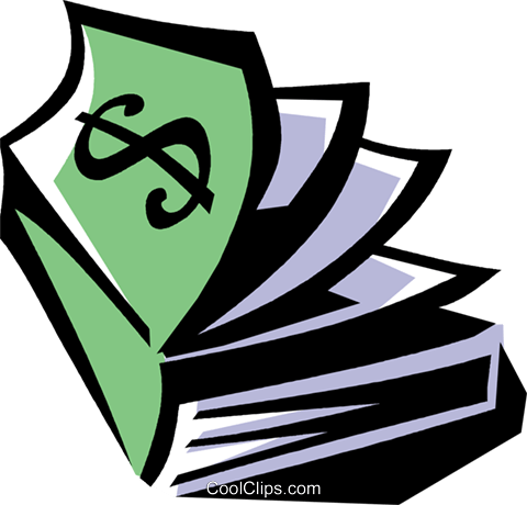 money book Royalty Free Vector Clip Art illustration vc061475