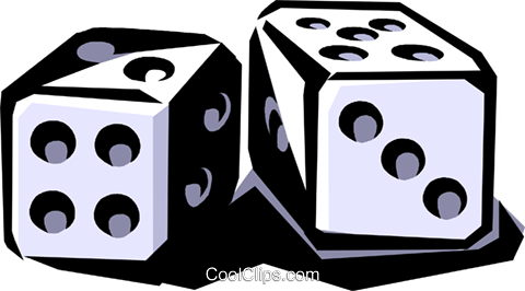 dice Royalty Free Vector Clip Art illustration vc061477