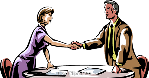 business people shaking hands Royalty Free Vector Clip Art illustration vc061478