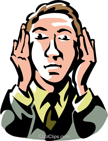 hear no evil Royalty Free Vector Clip Art illustration vc061486