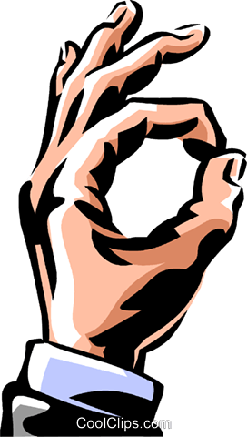 "hand making the ""ok"" sign Royalty Free Vector Clip Art illustration vc061488"