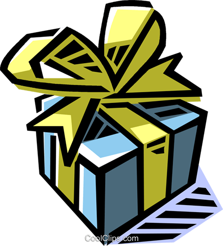 present/gift Royalty Free Vector Clip Art illustration vc061506