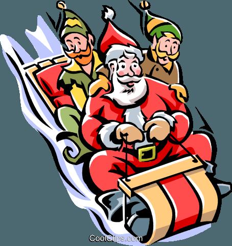 toboggan ride, winter sports Royalty Free Vector Clip Art illustration  -vc006196-CoolCLIPS.com