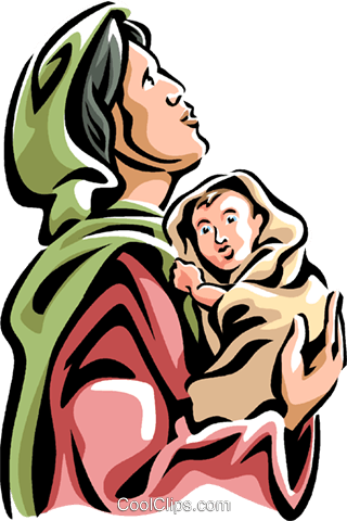 Virgin Mary with the Christ Child Royalty Free Vector Clip Art illustration vc061540
