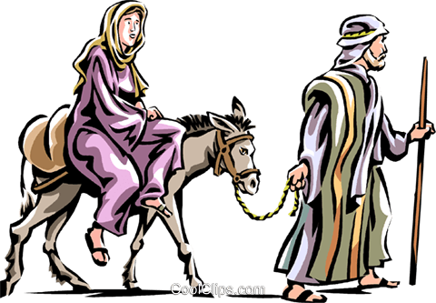 mary and joseph headed to bethlehem royalty free vector clip art rh search coolclips com clipart bethlehem star bethlehem clipart free