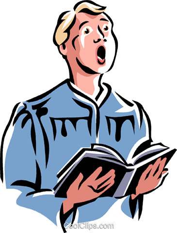 choir boy Royalty Free Vector Clip Art illustration vc061548