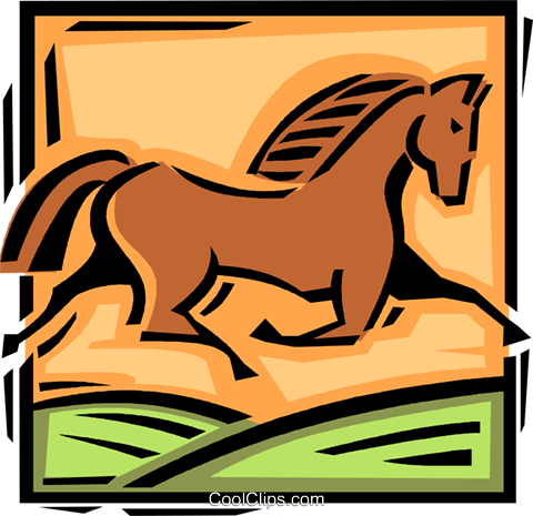 horse Royalty Free Vector Clip Art illustration vc061594