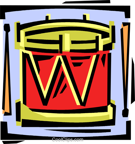 drum Royalty Free Vector Clip Art illustration vc061602