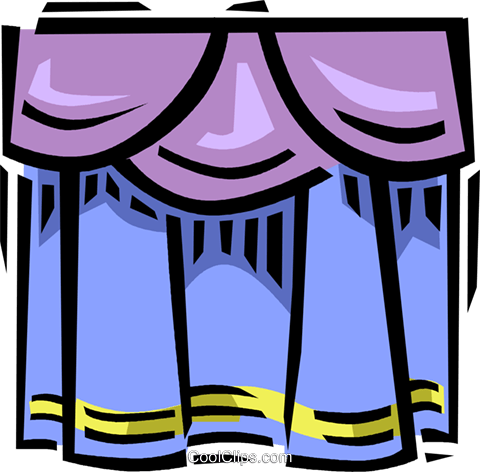 theatre curtains Royalty Free Vector Clip Art illustration vc061618