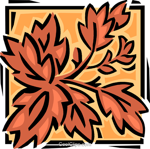 leaves Royalty Free Vector Clip Art illustration vc061620