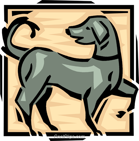 playful dog Royalty Free Vector Clip Art illustration vc061625