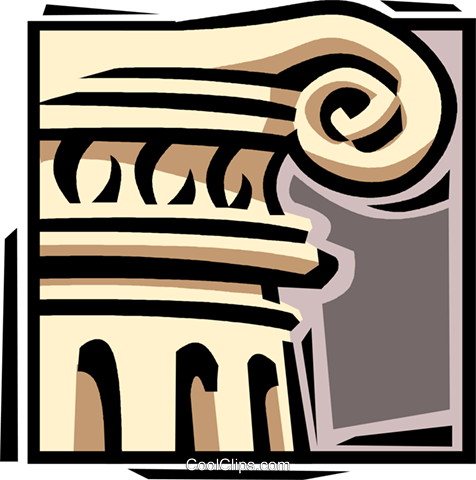 Ancient column Royalty Free Vector Clip Art illustration vc061631
