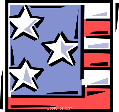 American flag Royalty Free Vector Clip Art illustration vc061637