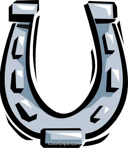 horseshoe Royalty Free Vector Clip Art illustration vc061639