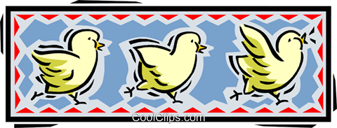 baby chicks Royalty Free Vector Clip Art illustration vc061654