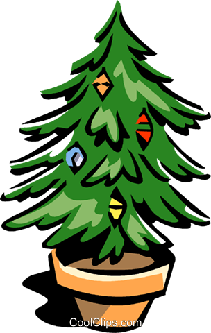 Christmas tree Royalty Free Vector Clip Art illustration vc061670