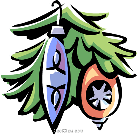 Christmas decorations Royalty Free Vector Clip Art illustration vc061673