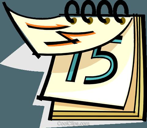 Kalender vektor clipart bild vc061699 for Clipart calendario