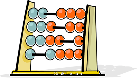 abacus Royalty Free Vector Clip Art illustration vc061705