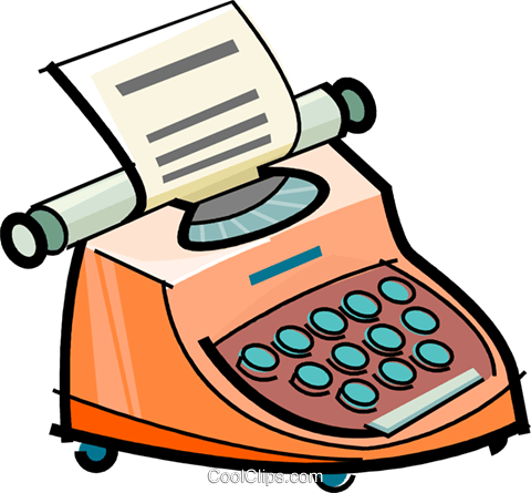 typewriter Royalty Free Vector Clip Art illustration vc061713