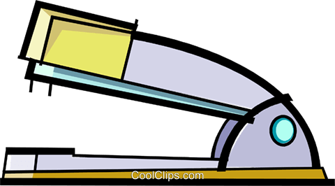 stapler Royalty Free Vector Clip Art illustration vc061714