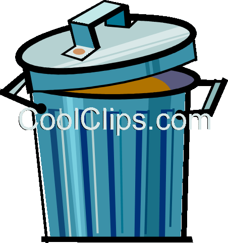 trash can Royalty Free Vector Clip Art illustration vc061715
