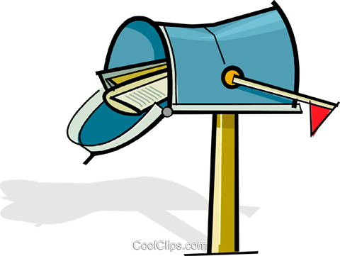mailbox with envelopes Royalty Free Vector Clip Art illustration vc061720