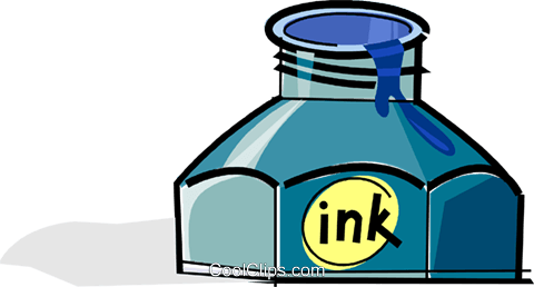 ink bottle Royalty Free Vector Clip Art illustration vc061721