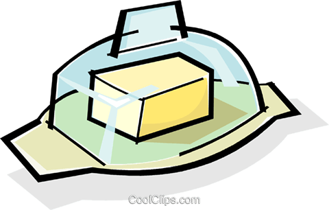 butter/margarine container Royalty Free Vector Clip Art illustration vc061728