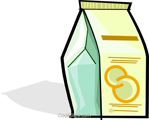 carton of juice Royalty Free Vector Clip Art illustration vc061730