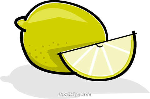 Sliced lime Royalty Free Vector Clip Art illustration vc061734