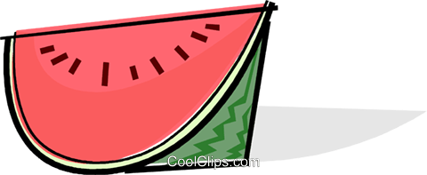 watermelon Royalty Free Vector Clip Art illustration vc061742