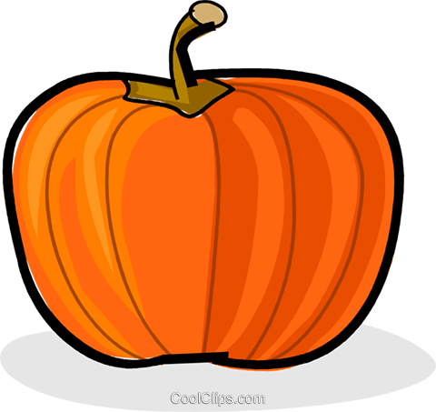 pumpkin Royalty Free Vector Clip Art illustration vc061748