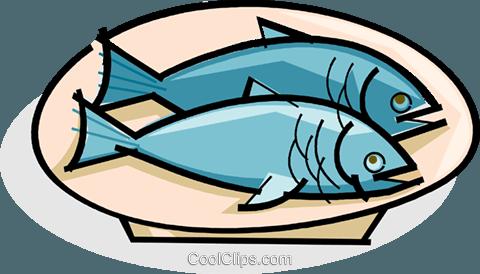 Fisch clipart  Fisch auf einem Teller Vektor Clipart Bild -vc061749-CoolCLIPS.com
