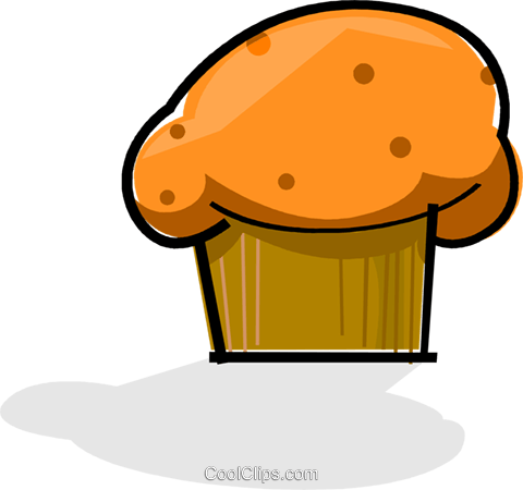 muffins Royalty Free Vector Clip Art illustration vc061754