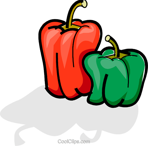 Bell peppers Royalty Free Vector Clip Art illustration vc061755