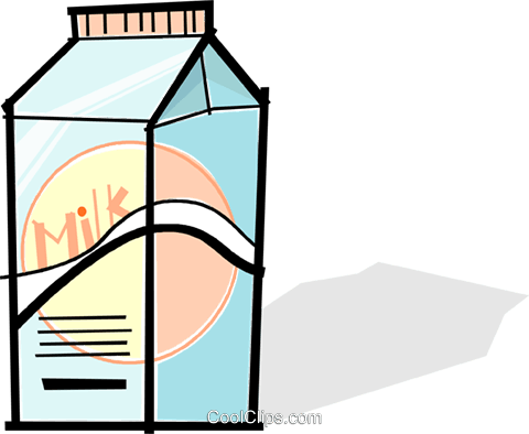 carton of milk Royalty Free Vector Clip Art illustration vc061757
