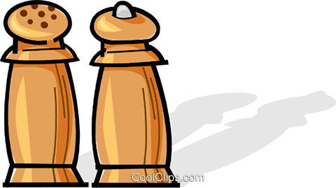 salt and pepper Royalty Free Vector Clip Art illustration vc061763