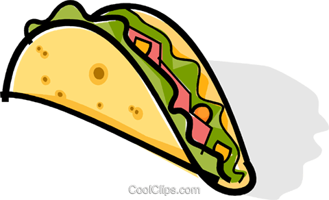 taco Royalty Free Vector Clip Art illustration vc061767
