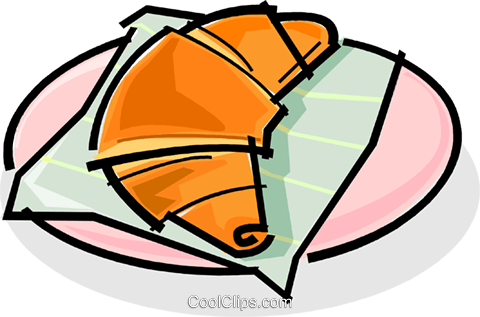 croissant Royalty Free Vector Clip Art illustration vc061791