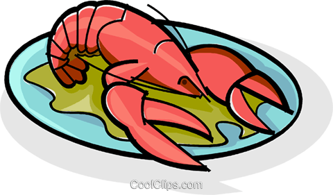 lobster Royalty Free Vector Clip Art illustration vc061804