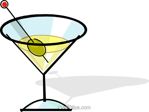 martini Royalty Free Vector Clip Art illustration vc061806